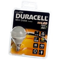 Duracell  LED Mini Globe Light Bulb - 4W SES