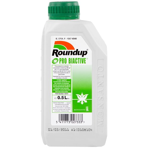 Round Up  Pro Biactive Weed Killer - 500ml