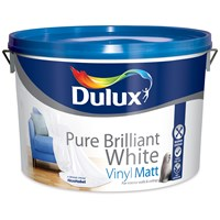 Dulux  Vinyl Matt Pure Brilliant White Paint - 10 Litre