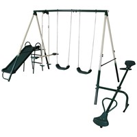 Kingfisher  Garden Swing, Slide & Seesaw Playset - 5 Piece