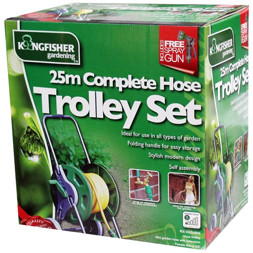 Kingfisher  Complete Hose Trolley Set - 25m