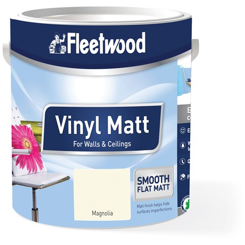 Fleetwood Colour for You Vinyl Matt Magnolia Paint - 5 Litre