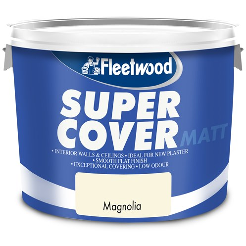 Fleetwood Super Cover Matt Magnolia Paint - 10 Litre