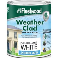 Fleetwood Weather Clad Exterior Satin Brilliant White Paint - 2.5 Litre