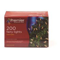 Premier Decorations  200 Fairy Lights - Clear