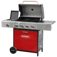 Outback  Meteor Hooded 4 Burner Gas BBQ
