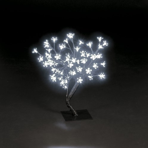 Snowtime  White LED Cherry Blossom Tree - 45cm