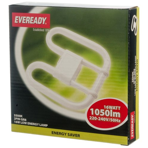 Eveready  CFL 2D 2 Pin Light Bulb - 16W