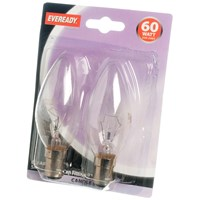 Eveready  Incandescent Clear Candle Light Bulb - 60W SBC