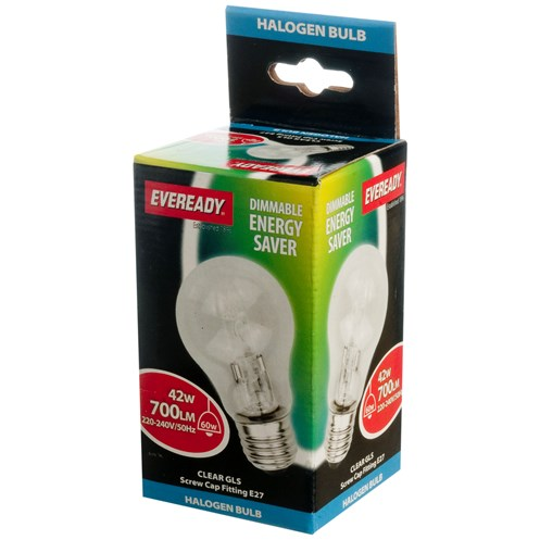 Eveready  Eco Halogen GLS Light Bulb - 42W ES