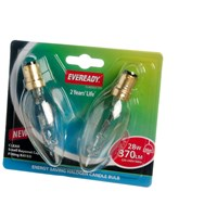 Eveready  Eco Halogen Candle Light Bulb 28W SBC - 2 Pack