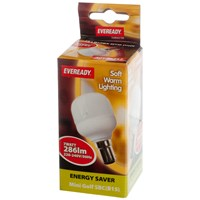 Eveready  CFL Golf Soft Lite Light Bulb - 7W SBC