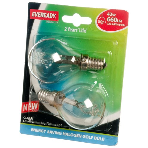 Eveready  Eco Halogen Golf Light Bulb - 42W SES