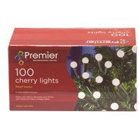 Premier Decorations  100 Cherry Lights - Pearl