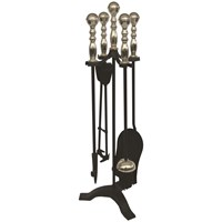 De Vielle  5 Piece Turn Handle Companion Set - Antique Brass