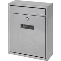 De Vielle  Contemporary Post Box - Silver