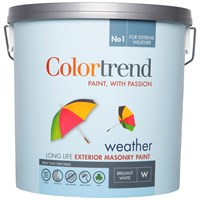 Colortrend  Weather Exterior Masonry Colours Paint - 10 Litre