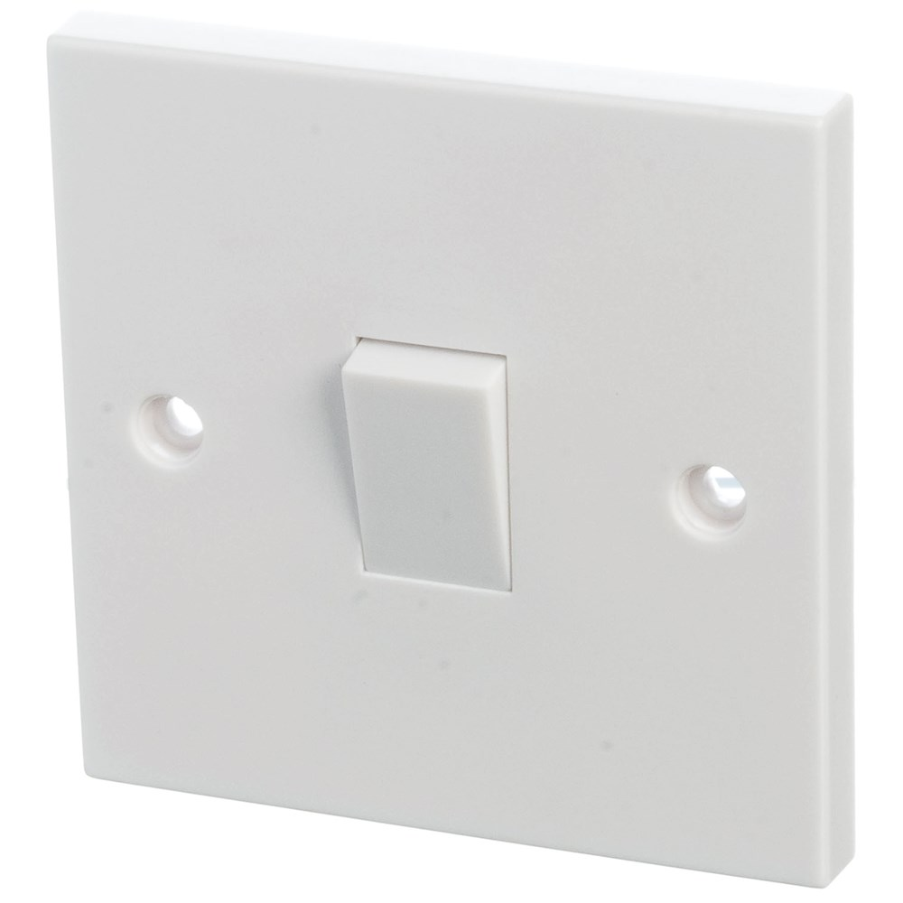 Powermaster 2 Way Switch 6 Amp 1 Gang Switches Sockets Picture