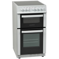 NordMende  White Freestanding Double Electric Cooker - 60cm