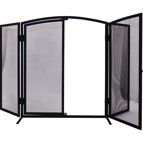 De Vielle  3 Panel Firescreen with Doors