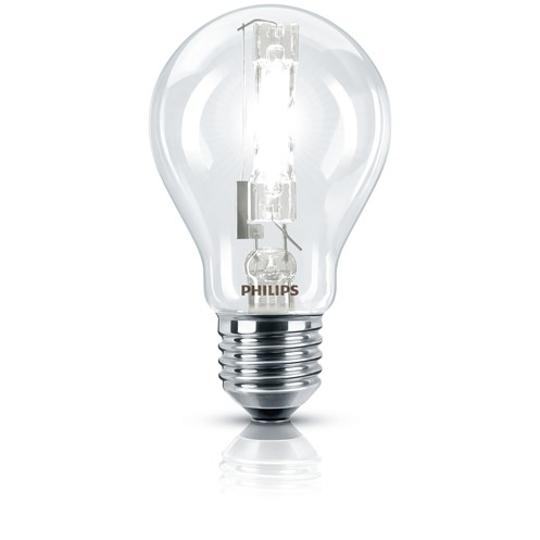 Philips EcoClassic E27 Halogen Light Bulb Blister Pack - 53W